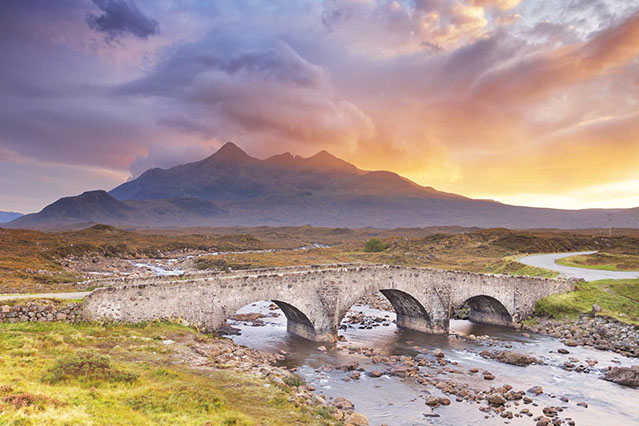 The Cuillin Mountain Range